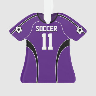 Purple Soccer Jersey Ornament