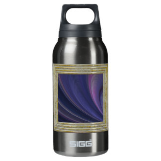 Purple Soft Sand Waves Insulated Water Bottle