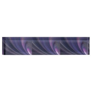 Purple Soft Sand Waves Nameplate