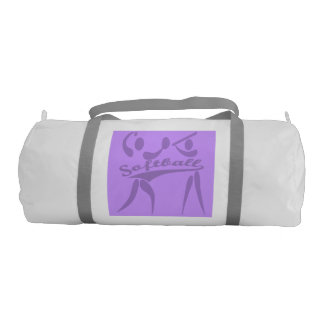 Purple Softball Gym Bag