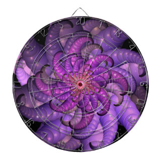 Purple Space Anemone Fractal Abstract Art Dartboard