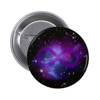Purple Space Image 6 Cm Round Badge