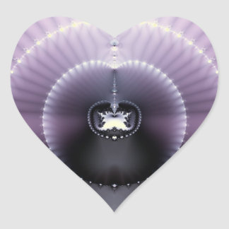 Purple Space Heart Sticker