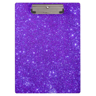 Purple Sparkle Glitter Girly Clipboard 5