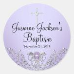 Purple Sparkle Jewel Baptism Sticker