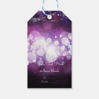 Purple Sparkle Lights Glam Birthday Party Favor