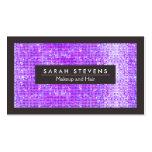 Purple Sparkly FAUX Sequins Makeup Artist Salon Business Card Templates