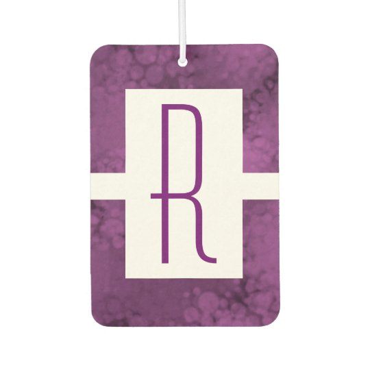 Purple Speckled Monogram Car Air Freshener