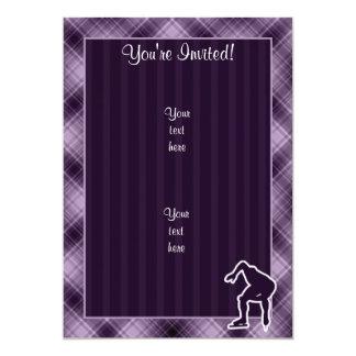 Purple Speed Skater 13 Cm X 18 Cm Invitation Card