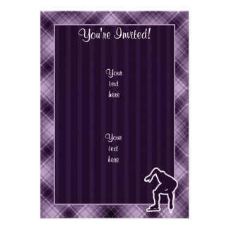 Purple Speed Skater Personalized Invite