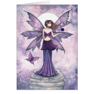 Purple Sphere Fantasy Fairy Card
