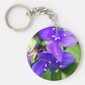Purple Spider Flowers Key Chains