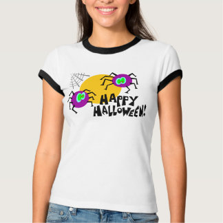 "Purple Spiders ""Happy Halloween!"" T-Shirt"
