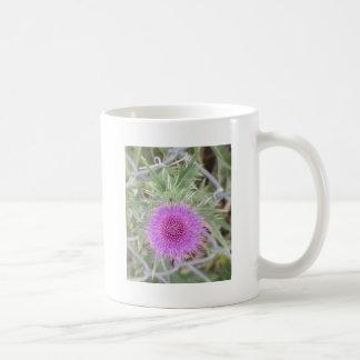 Purple spike basic white mug