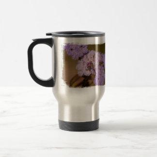 Purple Spiky Flower; No Text Stainless Steel Travel Mug