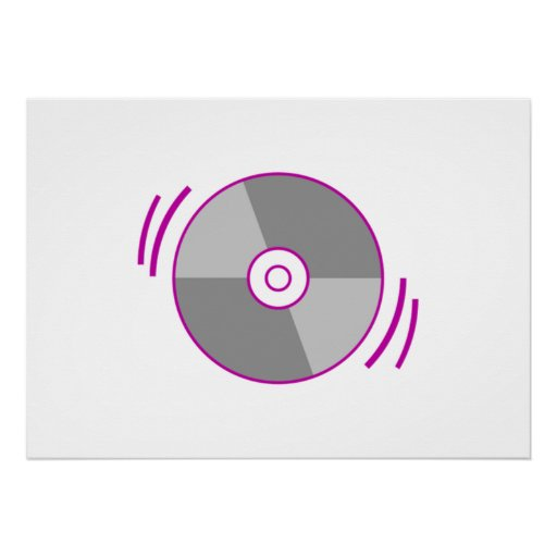 Purple Spinning CD Posters