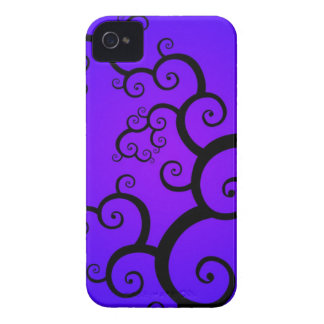 Purple Spiral BlackBerry Bold Case-Mate Barely The
