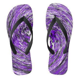 Purple Spiral Flip Flops