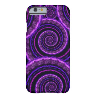 Purple Spiral Fractal Art Pattern Barely There iPhone 6 Case