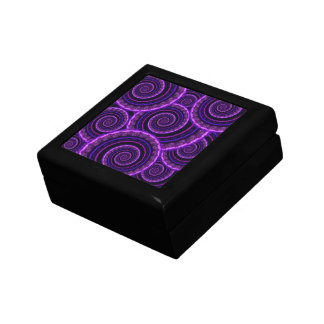 Purple Spiral Fractal Art Pattern Gift Box