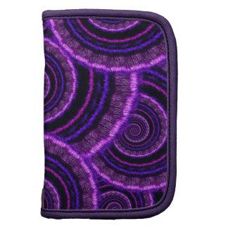 Purple Spiral Fractal Art Pattern Folio Planners