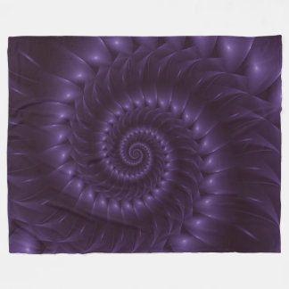 Purple Spiral Fractal Blanket