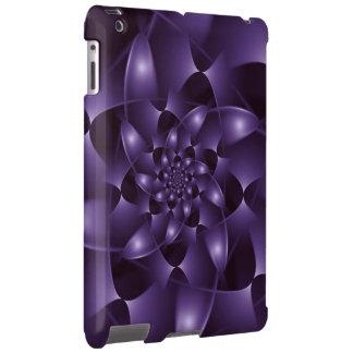 Purple Spiral Fractal iPad Case