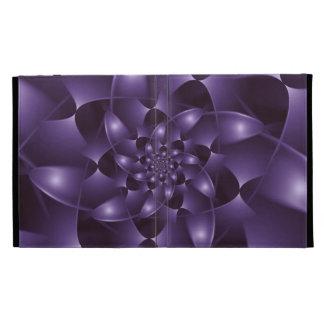 Purple Spiral Fractal iPad Folio iPad Cases