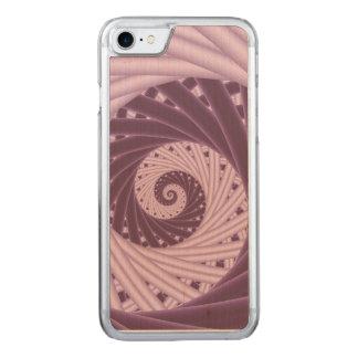 Purple Spiral Fractal iPhone 6 Slim Wood Carved iPhone 8/7 Case