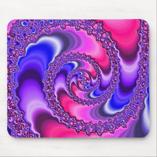 Purple Spiral Mouse Mat