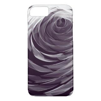 Purple Spiral Pattern1 - Apple iPhone Case