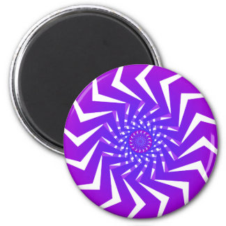 Purple Spiral Pattern: Vector Art: 6 Cm Round Magnet
