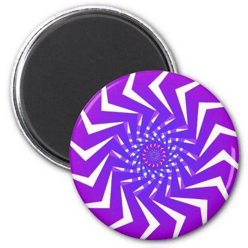 Purple Spiral Pattern: Vector Art: Fridge Magnet