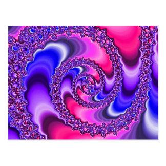 Purple Spiral Postcards