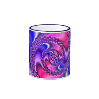 Purple Spiral Ringer Mug
