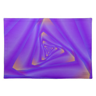 Purple Spiral Triangle American MoJo Placemat