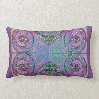 Purple Spirals Lumbar Cushion
