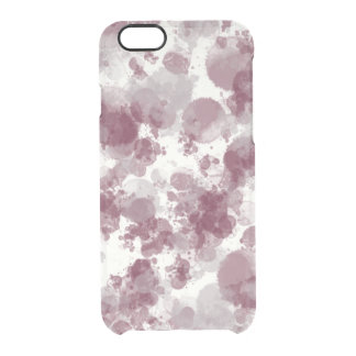 Purple Splash Deflector Clear iPhone 6/6S Case