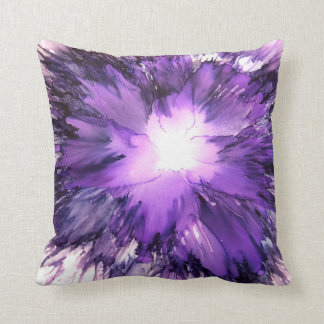 Purple splash of vibrant color cushion