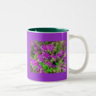 Purple Splash Two-Tone Coffee Mug