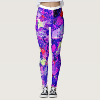 Purple Splatter Leggings