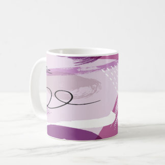 Purple Splotches Abstract Coffee Mug