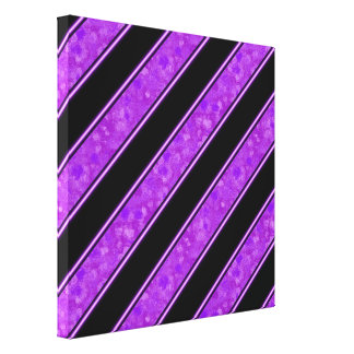 Purple Sponge Paint Stripes Gallery Wrap Canvas