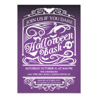Purple Spooky Gothic Halloween Invitation
