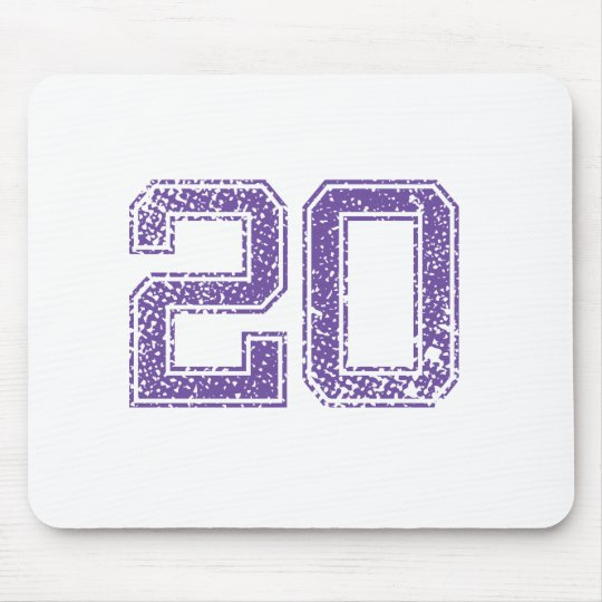 Purple Sports Jerzee Number 20.png Mouse Mat