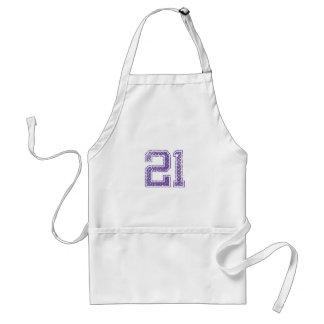 Purple Sports Jerzee Number 21.png Standard Apron
