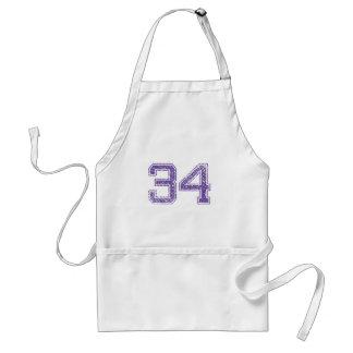 Purple Sports Jerzee Number 34.png Standard Apron