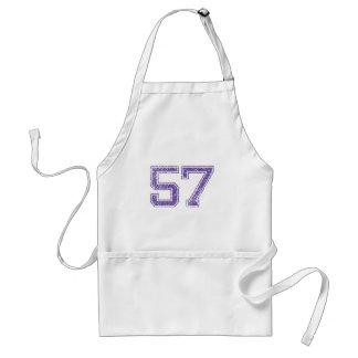 Purple Sports Jerzee Number 57.png Standard Apron