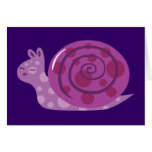 Purple Spotted Snail Greeting Card