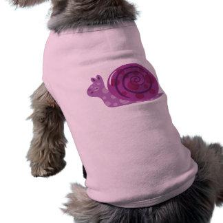 Purple Spotted Snail Sleeveless Dog Shirt